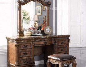 Классический стол туалетный с зеркалом ДельМондо