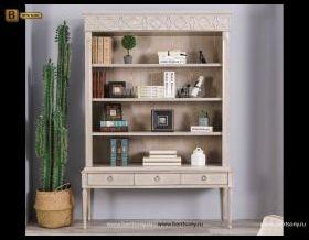 Шкаф Книжный Невада (Классика, массив дерева) каталог мебели