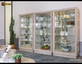 Декоративная витрина Невада B  (Неоклассика, массив дерева) каталог мебели с ценами