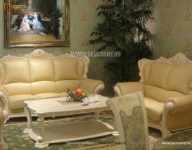 Диван Двойной А Вирджиния-W белая (Массив берёзы, натуральная кожа, классика) магазин Москва