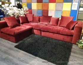 Угловой Диван Бениамино (красный) каталог мебели
