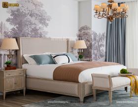 Кровать Невада С (Неоклассика, Ткань) изображение