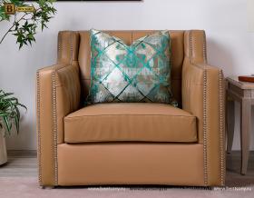 Кресло Невада J (Неоклассика, Кожа+Кожзам) для загородного дома