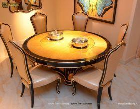 Стол обеденный круглый большой Конкорд (Классика, массив дерева) для загородного дома