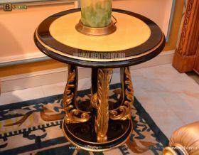 Стол журнальный круглый Конкорд A (деревяная  столешница) для квартиры