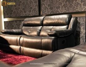 диван кожаный реклайнер прямой Аутуниа