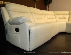 диван реклайнером спальными местами белый Амелия