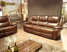 Коричневый кожаный диван Шарм