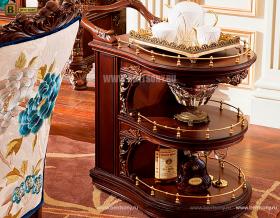 Сервировочный столик Батлер на колесиках (Классика, массив дерева) для квартиры