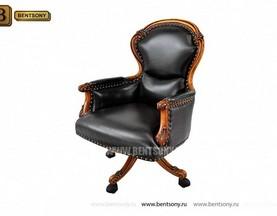 Кресло Кабинетное Дакота В (Натуральная кожа, колесики) магазин Москва