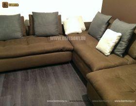коричневый модульный диван Арлетто