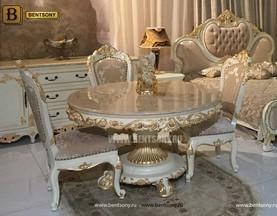 Обеденный стол Амадео 02 (Круглый, Мрамор) для квартиры