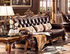 Диван Дакота С (Классика, Натуральная Кожа) каталог мебели с ценами