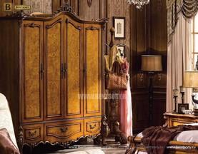 Шкаф 4-х дверный Дакота (Массив дерева, Классика) для квартиры
