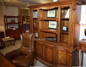 Шкаф Книжный Монтана (Прямой, массив дерева) для загородного дома