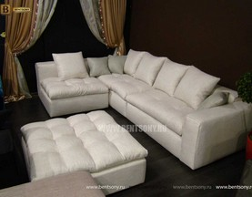 Диван Бениамино цвет белая рогожка