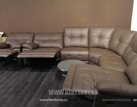 купить угловой диван реклайнер кожа спб