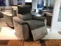 Кресло Либеро с реклайнером (Натуральная Кожа, Алькантара) распродажа