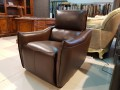 Кресло Порто цвет коричневый (Реклайнер, Натуральная кожа) интернет магазин