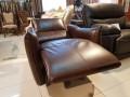 Кресло Порто цвет коричневый (Реклайнер, Натуральная кожа) цена