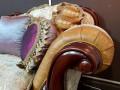 Диван Вагнер С (Классика, Ткань, подлокотники кожа) фото