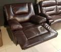 Кресло Прецо темно коричневое (Механизм качания, Натуральная Кожа) фото