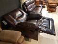 Кресло Прецо темно коричневое (Механизм качания, Натуральная Кожа) цена