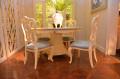 Столовая Митчел с круглым столом (Классика, мраморная столешница) купить в Москве