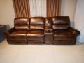 Диван Редфорд тройной с Баром (Реклайнеры, Натуральная Кожа) каталог мебели с ценами