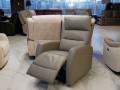 Кресло Лаваль в натуральной коже с реклайнером купить в Москве