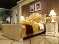 Кровать Вирджиния В (Массив берёзы,натуральная кожа, классика) для квартиры
