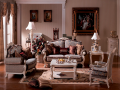 Диван Двойной F Вирджиния-W (Массив берёзы, ткань, классика) в интерьере