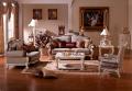 Диван F Вирджиния-W (Массив берёзы,ткань, классика) для квартиры