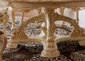 Стол обеденный круглый Белмонт-W с сервировочной платформой (Классика, массив дерева) сайт цены