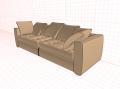 Прямой мягкий диван мебель Бенцони