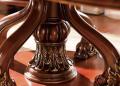 Стол обеденный круглый Батлер с сервировочной столешницей (Классика, массив дерева) распродажа