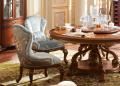 Стол обеденный круглый Батлер с сервировочной столешницей (Классика, массив дерева) цена