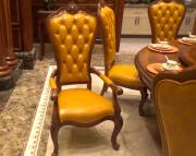 Классический стул Монтана А без подлокотников (Капитоне, Натуральная кожа) фото