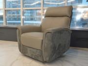 Кресло Венто с реклайнером, натуральная кожа цена