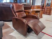 Кресло Кларк (Реклайнер, Натуральная кожа) для дома