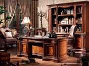 Письменный стол Монтана большой для кабинета (классика, массив дерева) купить в Москве